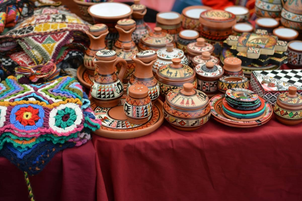 Ceramics for sale at the market