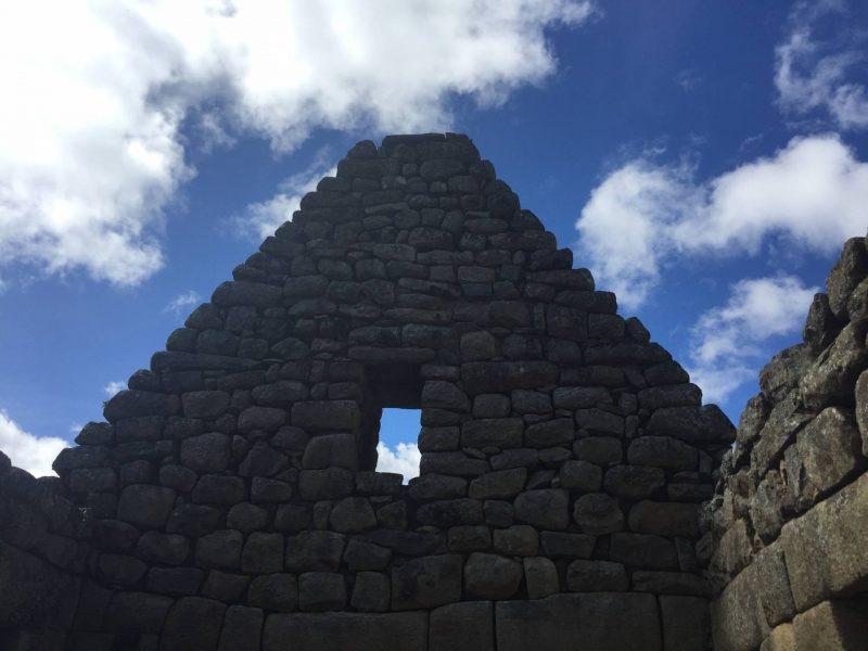 Incan ruins in Machu Picchu