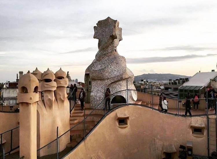 Chimneys at Casa Mila