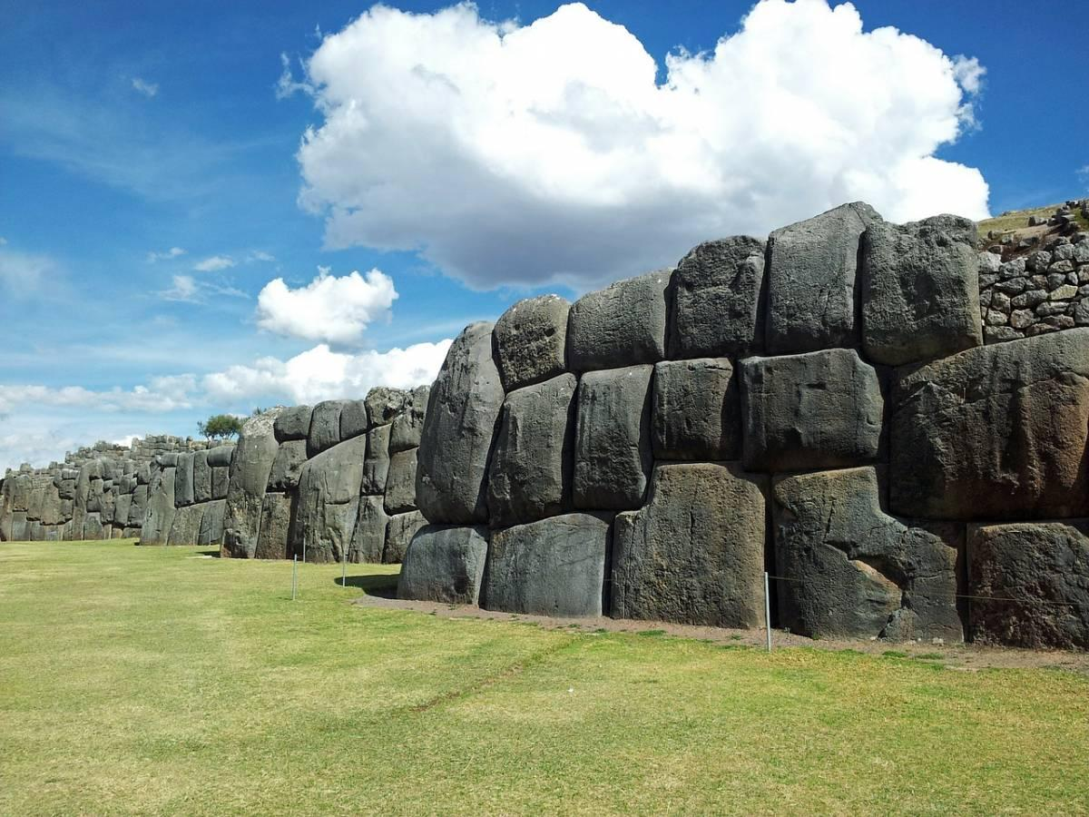 View of the stones at Sacsayhuaman