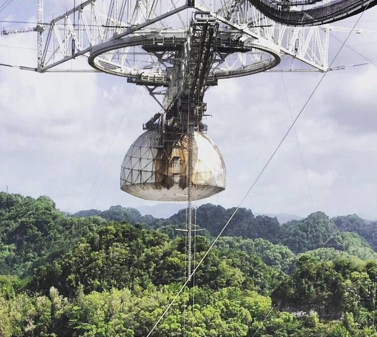 See the World's Largest Single-Dish Radio Telescope at the Arecibo Observatory in Puerto Rico
