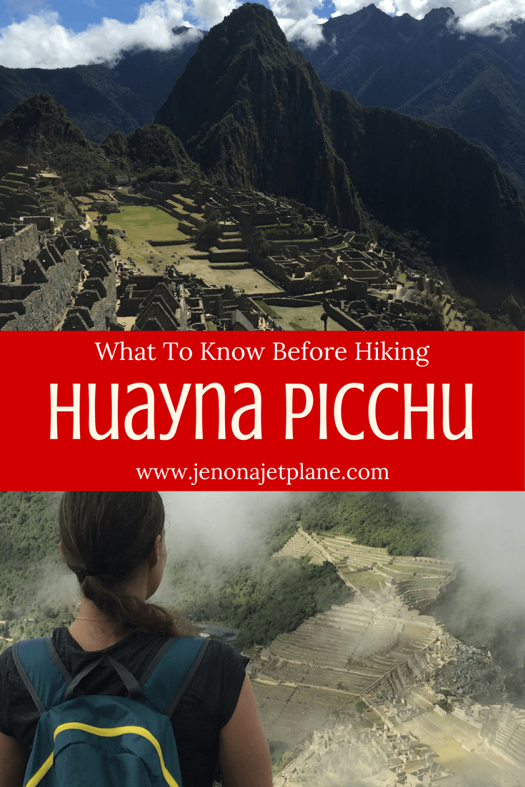 Huayna Picchu is a mountain right next to Macchu Picchu, Peru. You can climb it twice a day for great views of the ancient ruins! Read and save my post for everything you need to know to make the hike.