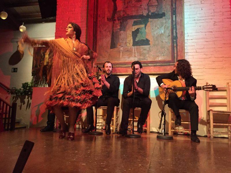 Flamenco show at Tablao de Carmen