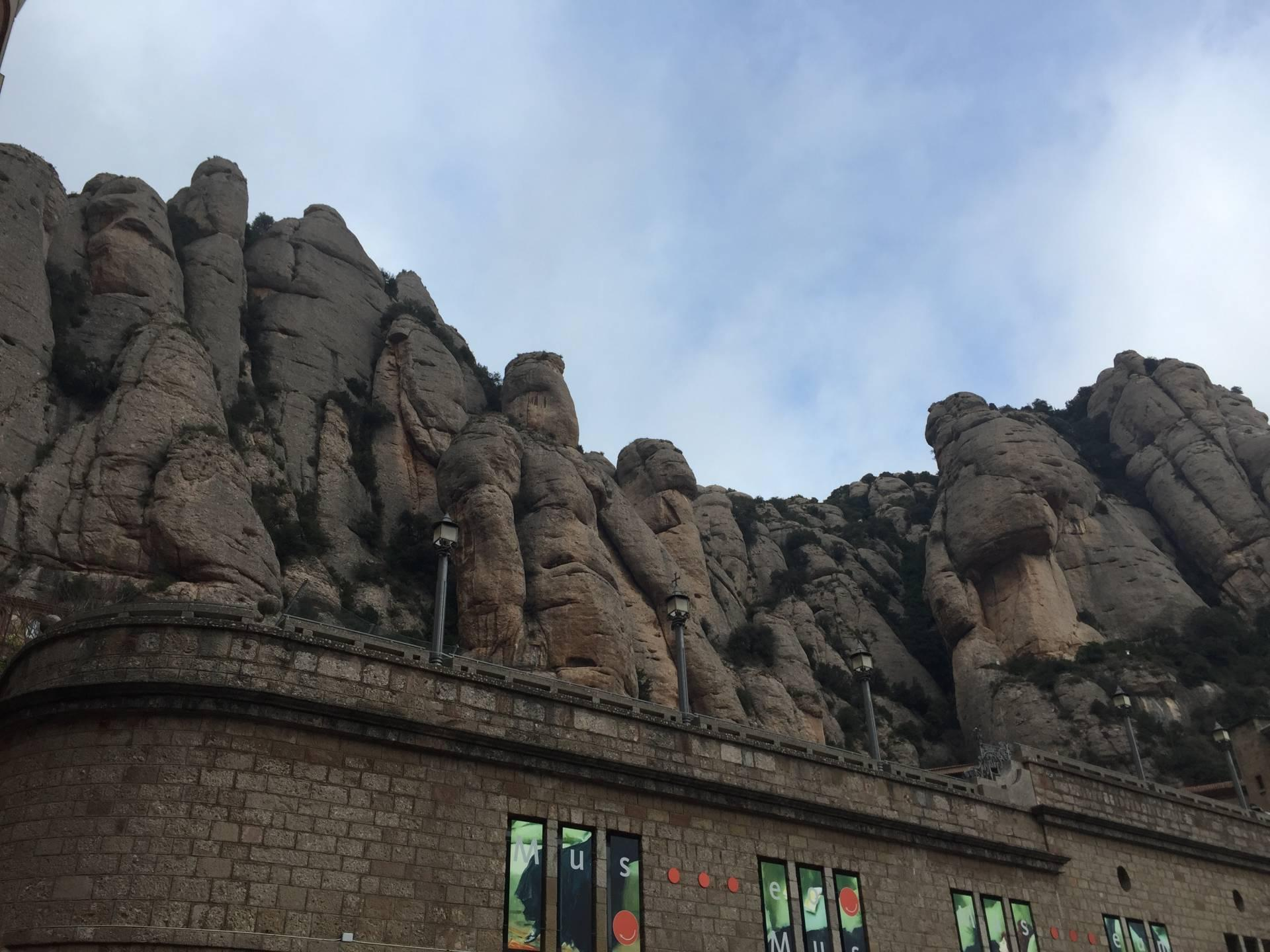 Serrated rocks of Montserrat