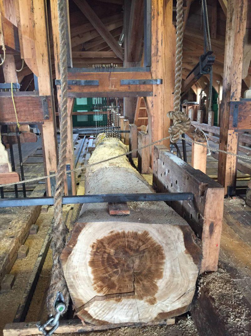 Inside the lumber windmill