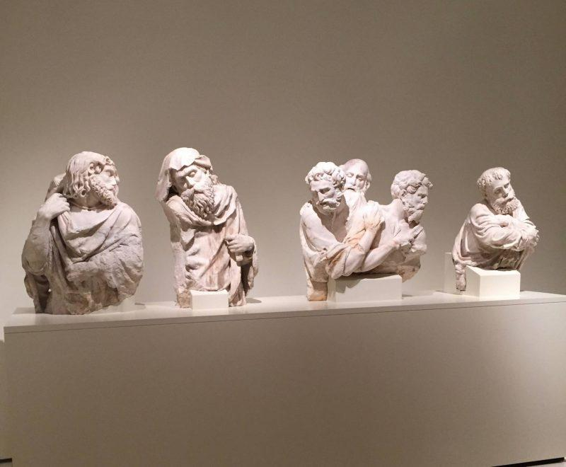 Statues on display at the museum