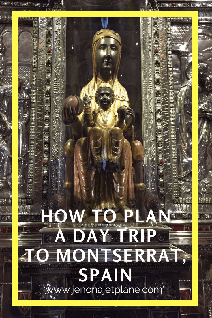 Montserrat makes the perfect day trip from Barcelona, Spain. See the Black Madonna, listen to the famous Boys Choir and hike the serrated mountains. Don't leave Spain without seeing Montserrat. Save this to your travel board for inspiration. #traveltips #spaintrip #europetrip #travelspain