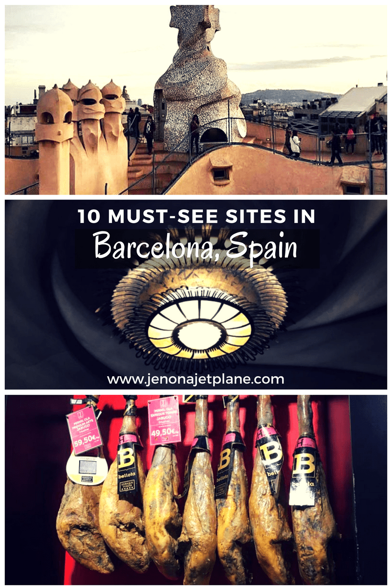 Must see sites in Barcelona, Spain, from Gaudi's rooftops to the Jamon Iberico Experience! #spain #barcelonatravel #spaintravel #europetravel #barcelonaspaintravel