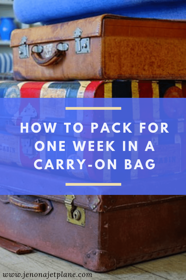 Need to pack for one week in one carry-on bag? These packing tips will have you on your way to traveling with a carry-on only. Travel wisely with these smart packing hacks and packing tips for vacations! Save to your travel board for future reference.