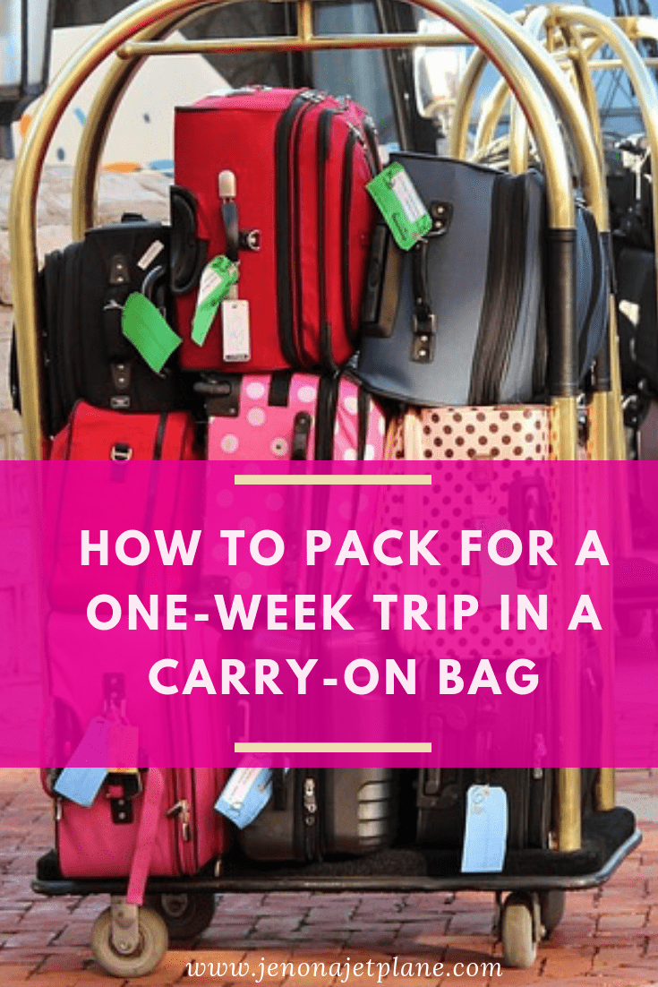 Need to pack for one week in one carry-on bag? These packing tips will have you traveling comfortably with a carry-on only. Travel wisely with these smart packing hacks and packing tips for vacations! Save to your travel board for future reference.