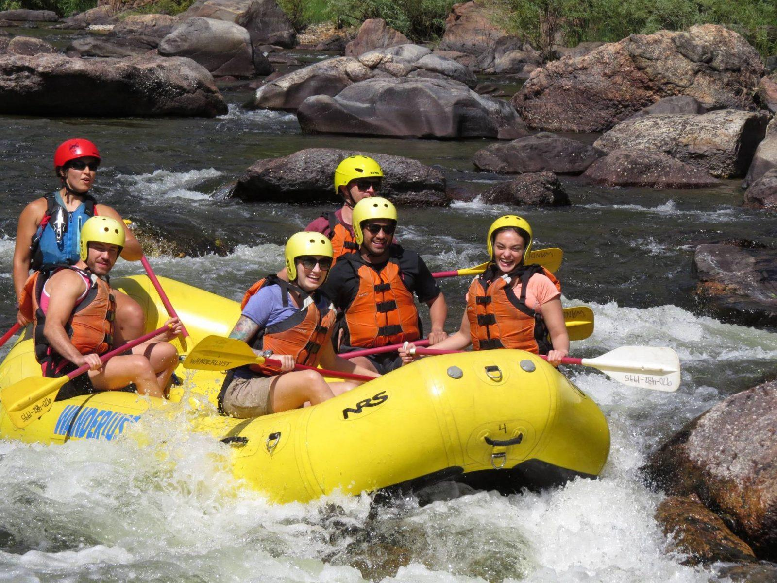 Whitewater Rafting Adventure Down La Poudre River with A Wanderlust Adventure