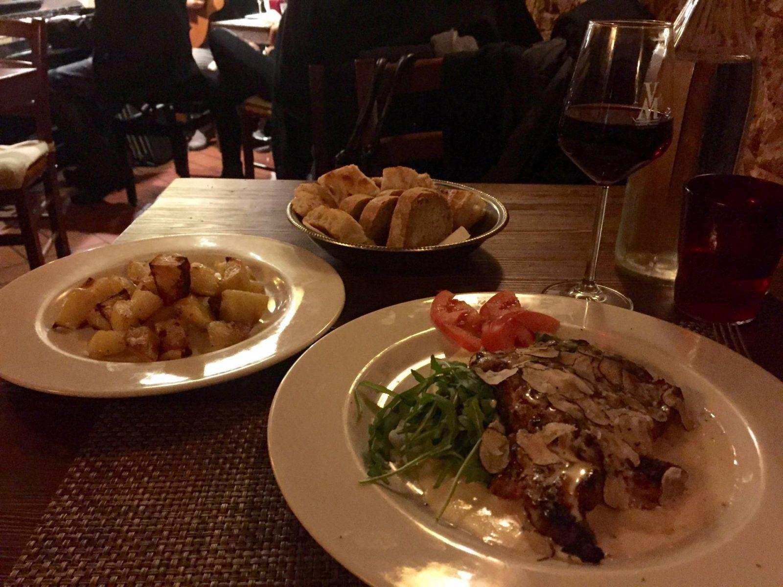 Truffle Steak and Jazz Duets: An Authentic Florentine Meal at Trattoria Vecchio Mercato