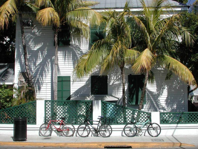 House with bicycles parked out front