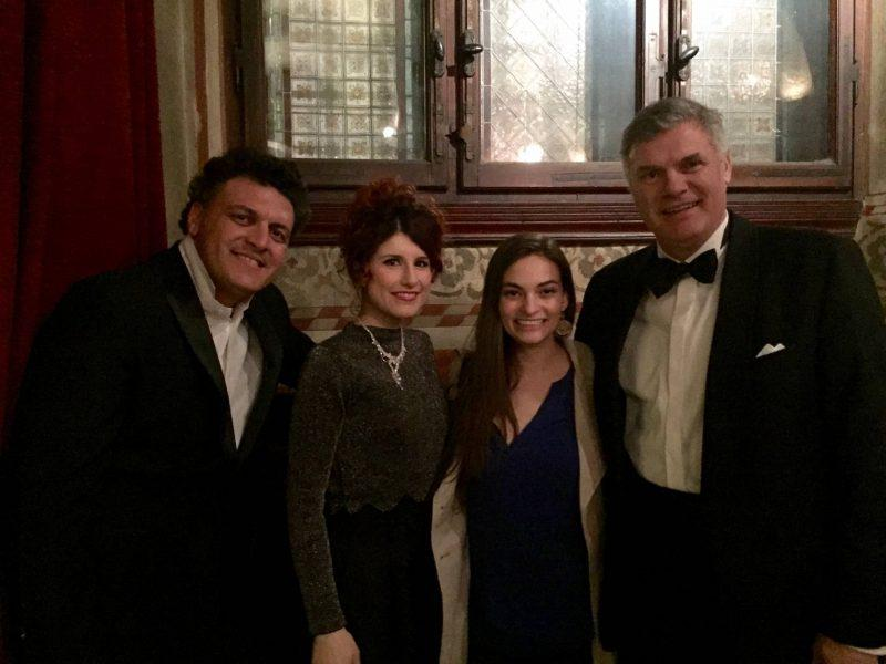 With the cast of the opera at St. Mark's church after the show