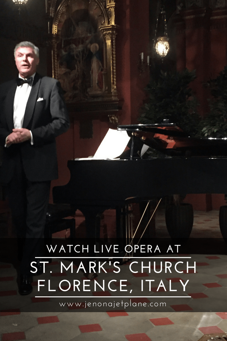 Don't miss a spectacular live opera performance at St. Mark's Church in Florence, Italy!