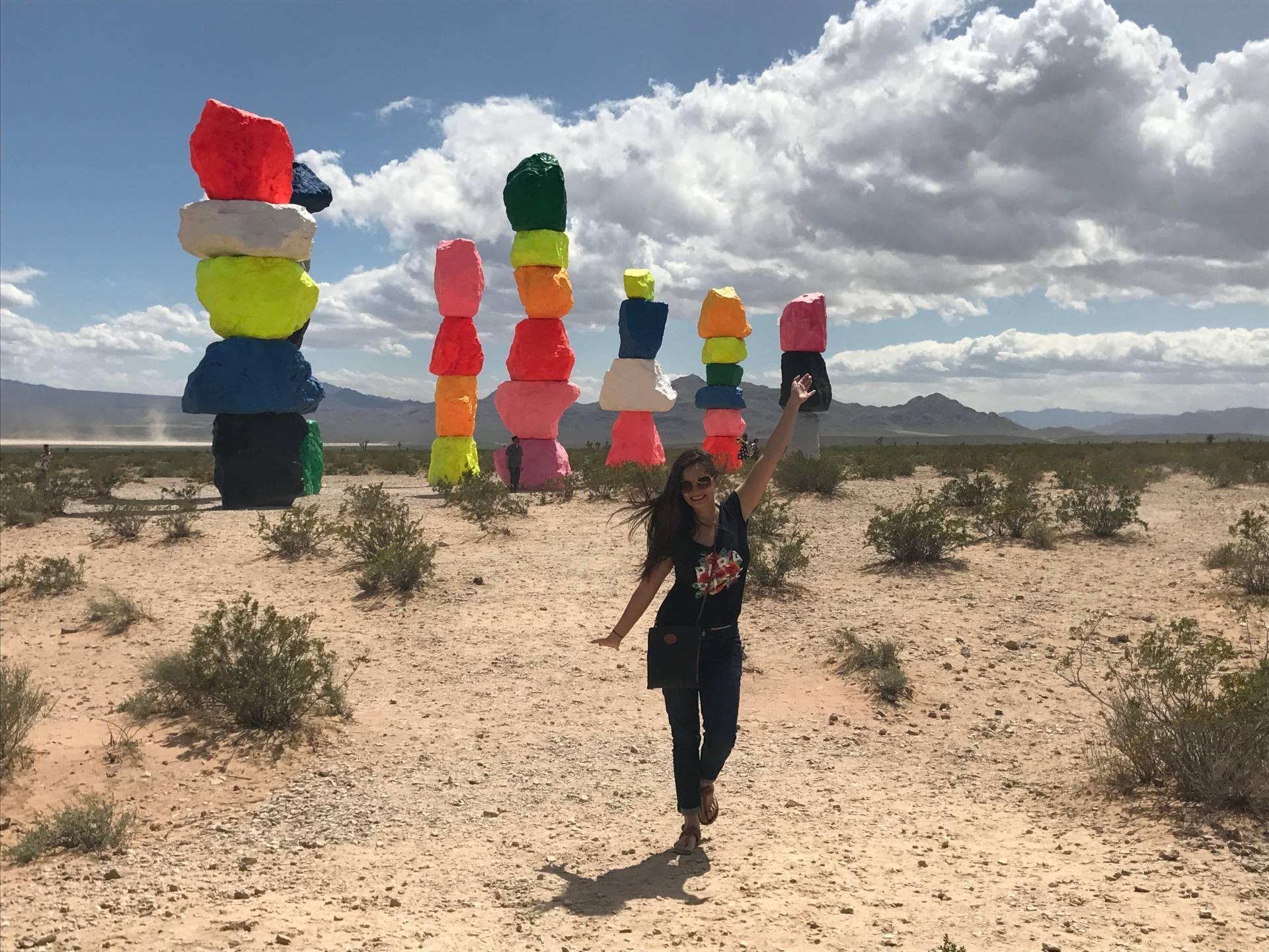 Art installation known as Seven Magic Mountains