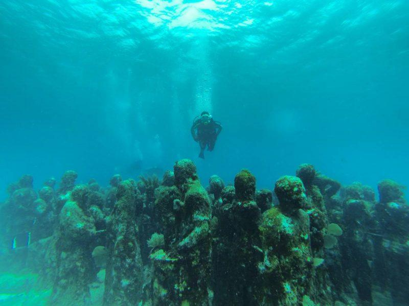 Statues of MUSA the Underwater Museum in Cancun