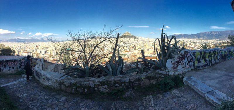 View of Athens from above