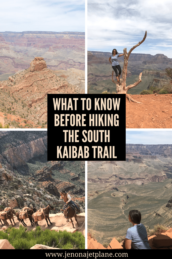 What to know before hiking the South Kaibab Trail in the Grand Canyon South Rim, USA.