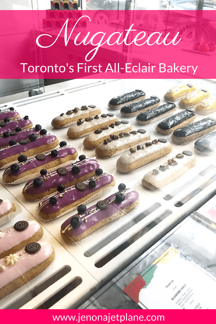 Nugateau is Toronto's first all-eclair pastry shop. Want to know where to find the best baked goods and sweets in Toronto? Don't leave Canada without trying the eclairs at Nugateau, the best choice for dessert in the city. Save this post to your travel board for a future trip to Toronto.