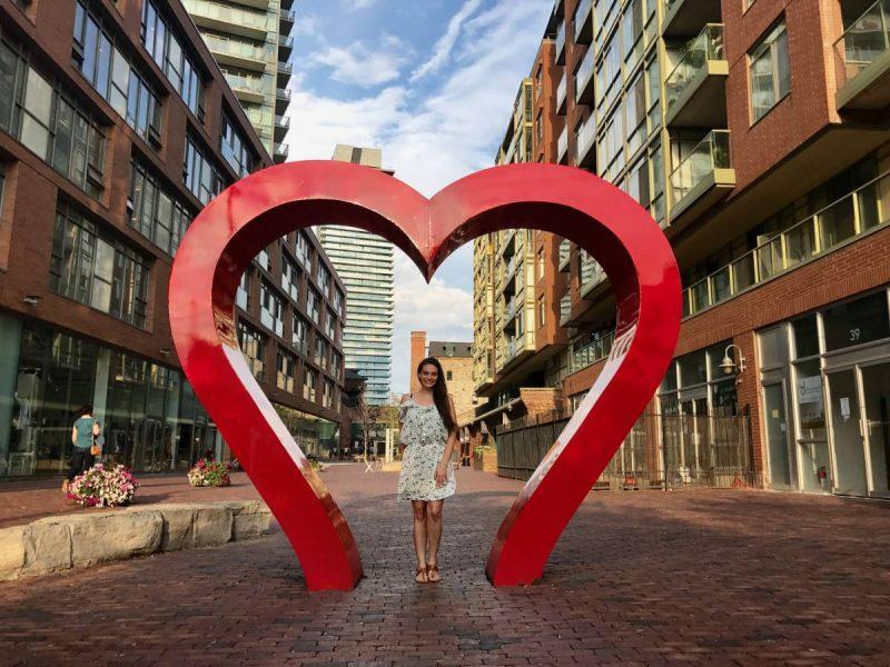 Heart statue at the Distillery District