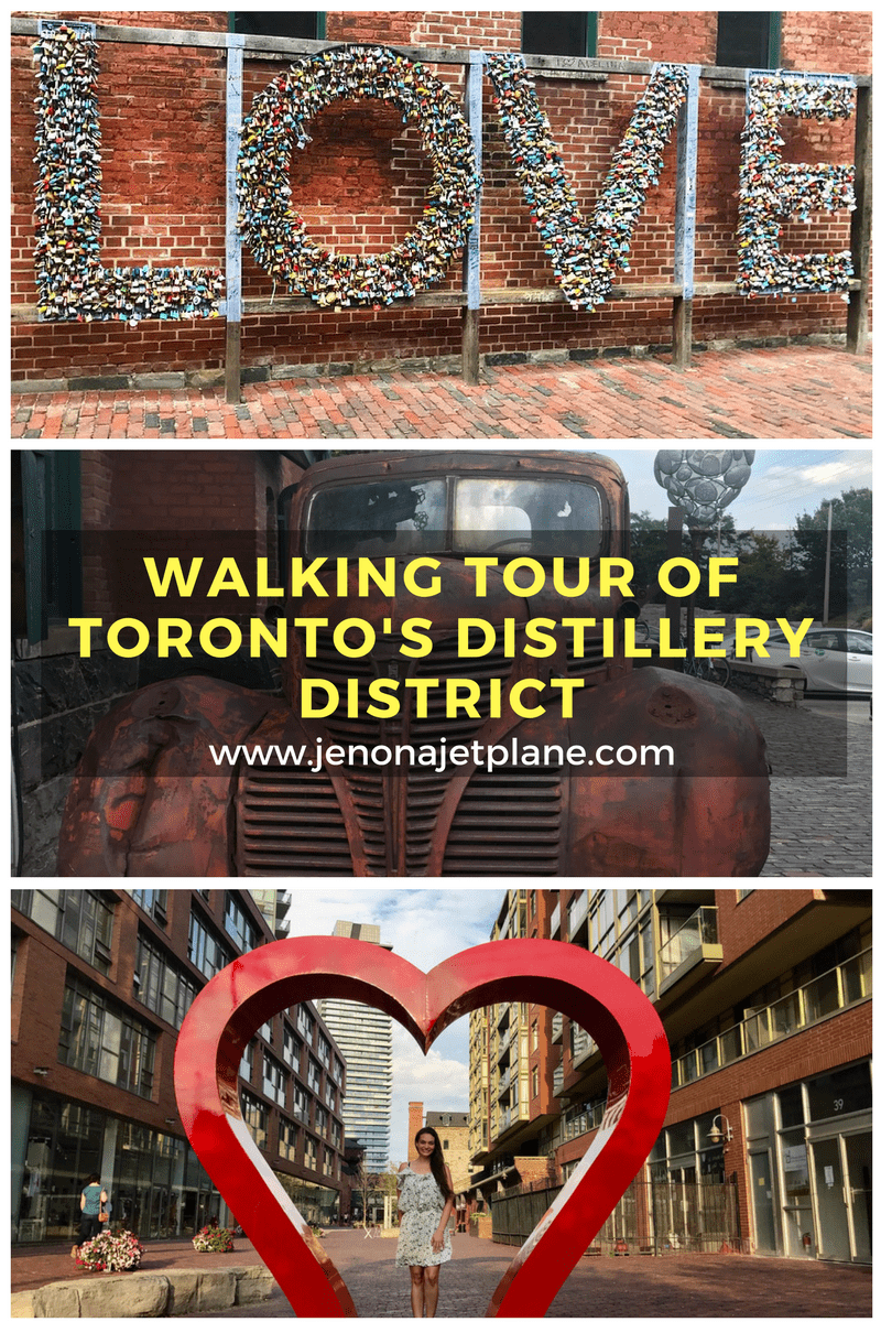 Step back in time with a walking tour of Toronto's Distillery District. I went on a walking tour with GoTours Canada and learned about the history behind Toronto's Distillery district neighborhood. We also had Soma chocolate and tasted different beers! Don't miss this tour your next time in Toronto. #torontotravel #canadatravel #torontotour #walkingtour #torontocanada