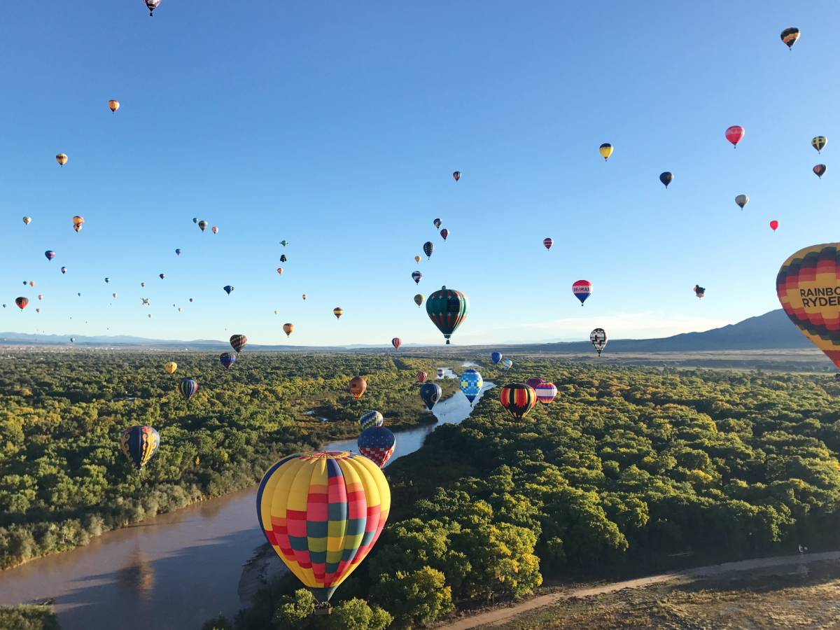 Bucket List Item: Flying in a Hot Air Balloon at the Albuquerque International Balloon Fiesta