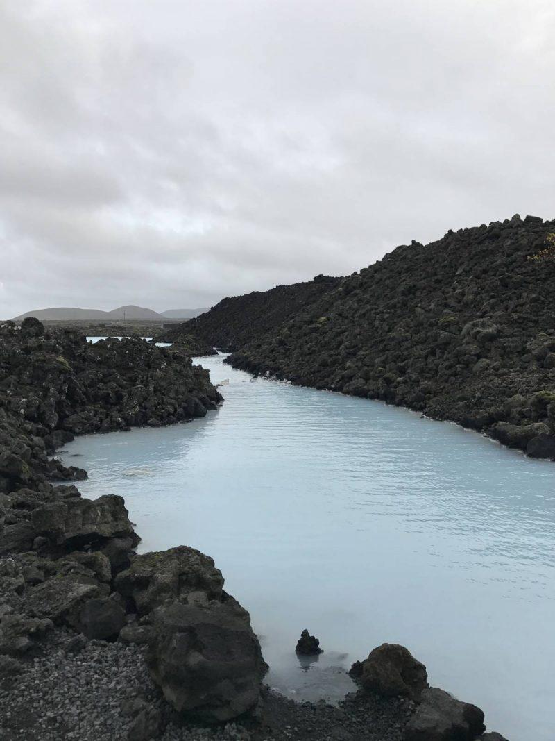 View entering the Blue Lagoon