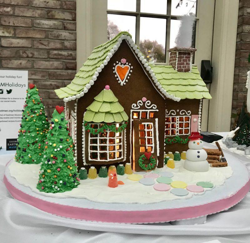 A cottage made of gingerbread