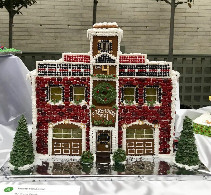 Gingerbread fire house