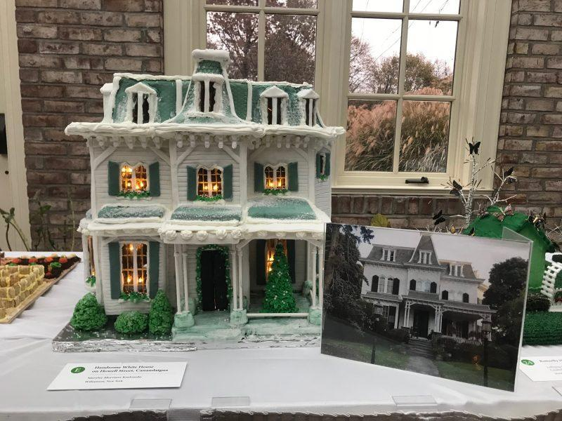 A replica of the Eastman House in gingerbread