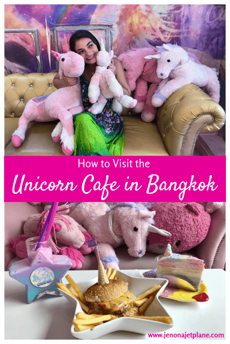 Want to visit the Unicorn Cafe in Bangkok? Here's everything you need to know before you go, from directions to the cost of renting a unicorn onesie. Save to your travel board for inspiration. #unicorncafebangkok #unicorncafeinthailand #bangkokthailand #bangkokthailandthingstodo #travelinspiration #travelinstagram
