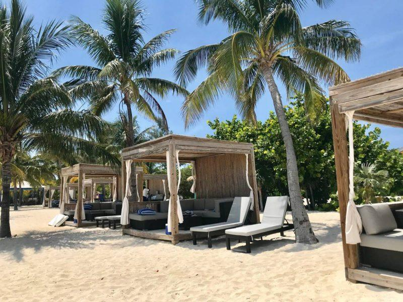 Private cabana rentals at CocoCay