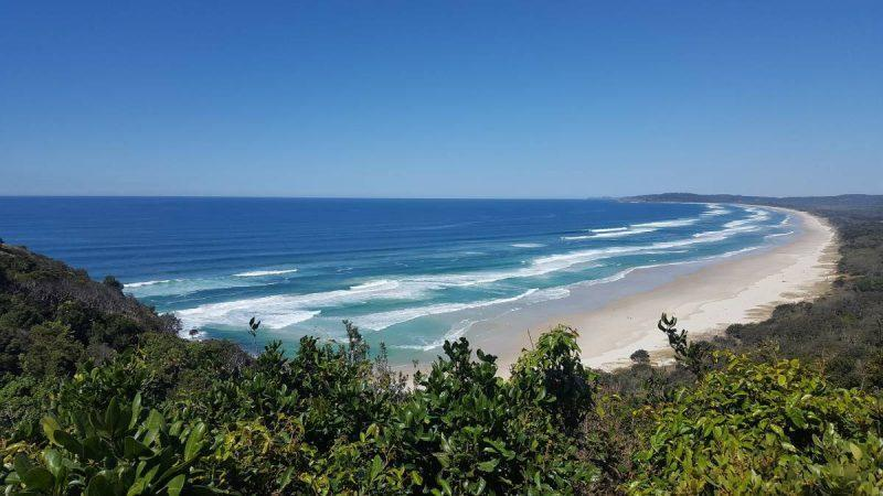 Byron Bay beaches from above