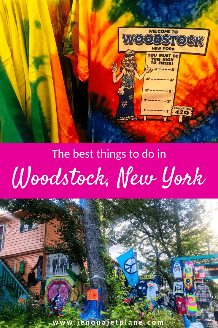 Want to visit Woodstock, New York? This hippie town has a lot to see, from the world's largest kaleidoscope to the site of the 1969 Woodstock Festival. Here are the best things to do in Woodstock, NY. Save to your travel board for inspiration! #woostock #woodstocknewyork #musicfestival #woodstocknythingstodo #woodstock1969 #ilovenewyork