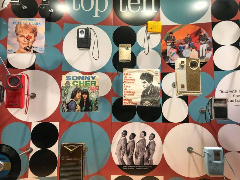Music display at the Woodstock Museum
