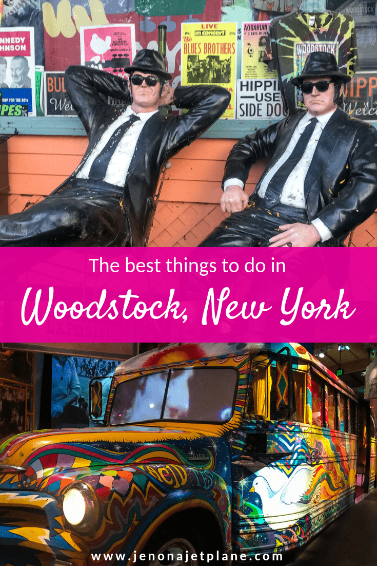 Want to visit Woodstock, New York? This hippie town has a lot to see, from the world's largest kaleidoscope to the site of the 1969 Woodstock Festival. Here are the best things to do in Woodstock, NY. Save to your travel board for inspiration! #woostock #woodstocknewyork #musicfestival #woodstocknythingstodo #woodstock1969 #nycdaytrip