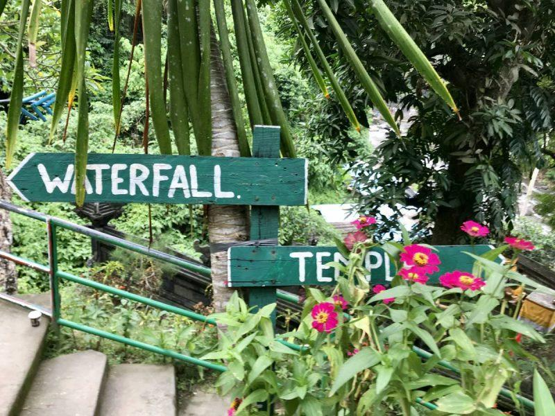 Sign at Tegenungan Waterfall