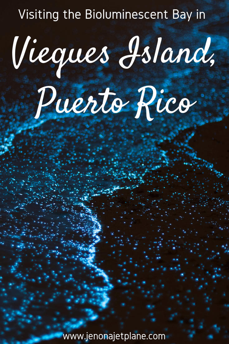 One of only five bioluminescent bays in the world, Mosquito Bay in Vieques is a must-see for anyone visiting Puerto Rico. Here's how to plan your visit! Save to your travel board for inspiration. #viequespuertorico #bioluminescentbay #biobaypuertorico #biobayvieques #bioluminescentbaypuertorico #vieques #bucketlistideas #traveldestinations