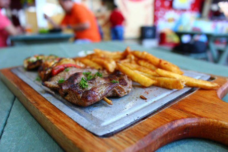 Typical Colombian food in Medellin