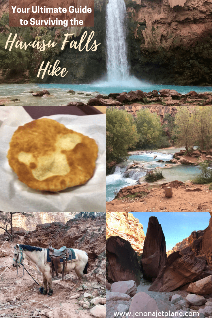 If you're about to go on the Havasu Falls hike in Arizona, you need to be prepared. Here are tips for surviving the journey, plus a bonus packing list. Save to your travel board for future reference. #havasufallsarizona #havasufallshike #havasufallspackinglist #havasufallscamping #havasupaifalls #havasupaifallspackinglist