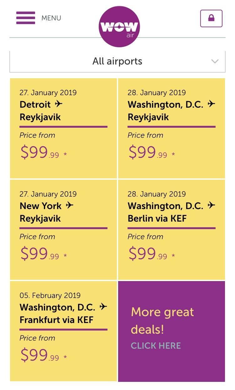 Cheap flights to Europe on WowAir