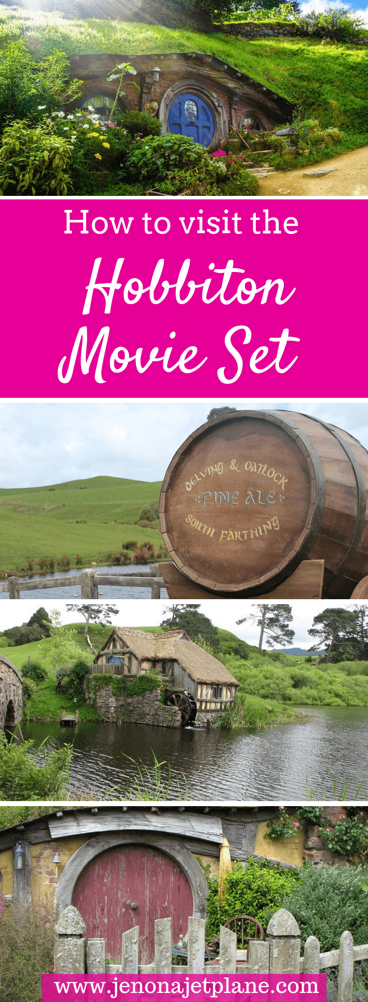 Want to visit Hobbiton Village, the Lord of the Rings movie set in New Zealand? Here's everything you need to know, from ticket prices to the best time of day to go. Save to your travel board for future reference! #newzealand #newzealandnorthisland #newzealandtravel #hobbiton #hobbitonnewzealand #hobbitontheshire #bucketlisttravel