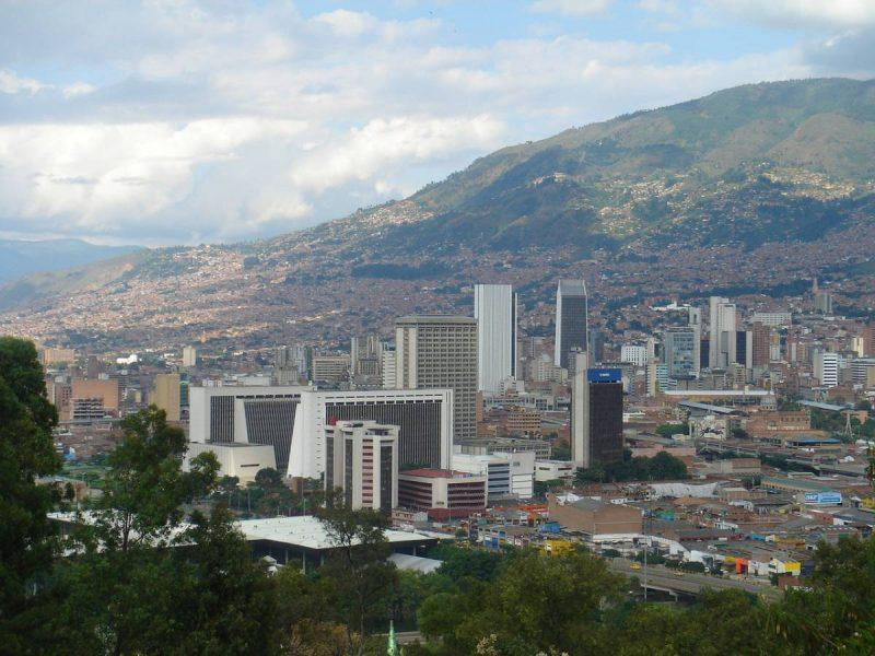 City view of Medellin Colombia