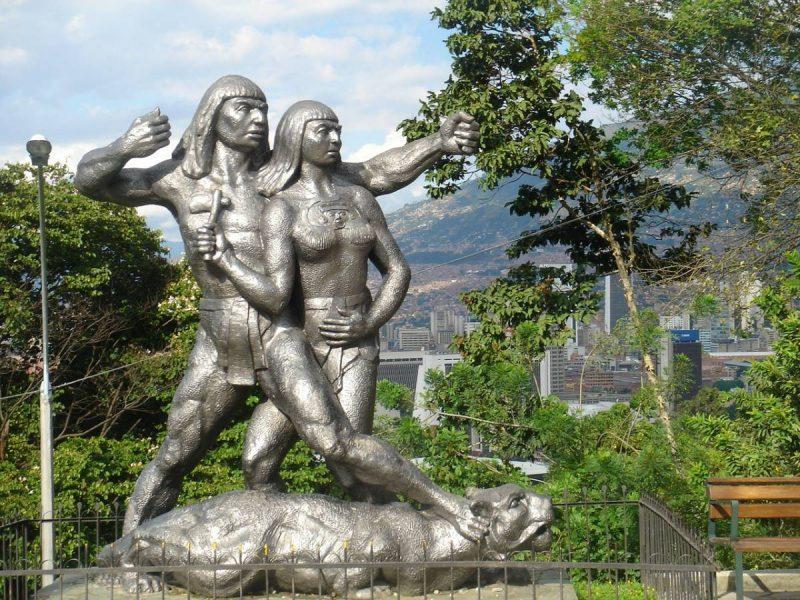 Outdoor sculptures in Medellin