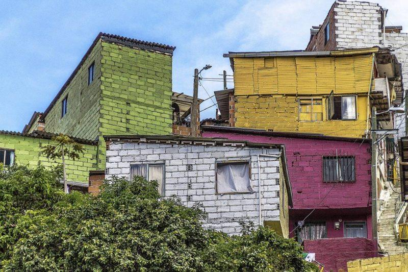 Colorful houses in Medellin