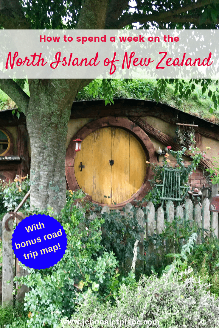 Want to know how to spend one week in the North Island of New Zealand? From Hobbiton to glowworm caves, here's everything you can't miss -- self-guided road trip map included! Save to your travel board for future reference. #newzealand #newzealandnorthisland #newzealandtravel #thingstodoinNewZealand #travelnewzealand #hobbiton #lordoftherings