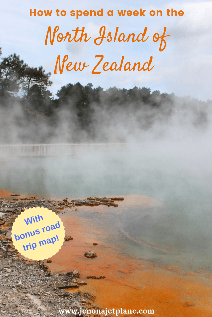 Want to know how to spend one week in the North Island of New Zealand? From geothermal springs to glowworm caves, here's everything you can't miss -- self-guided road trip map included! Save to your travel board for future reference. #newzealand #newzealandnorthisland #newzealandtravel #thingstodoinNewZealand #travelnewzealand #waiotapu #rotorua #purenewzealand