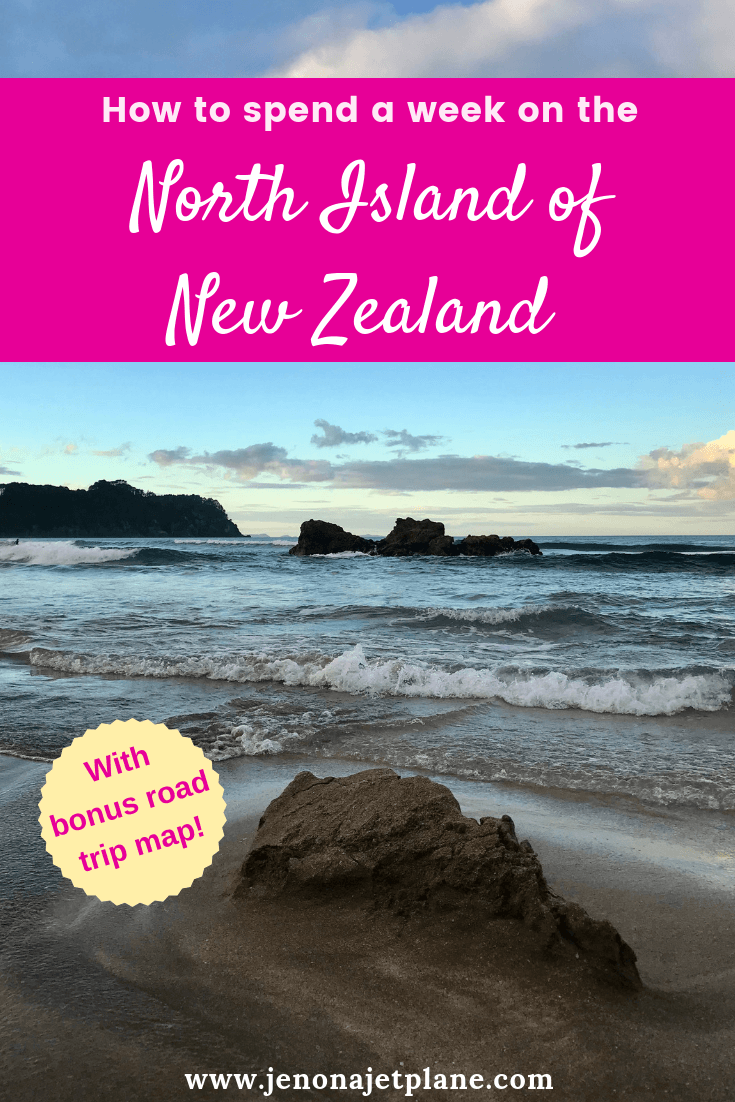 Want to know how to spend one week in the North Island of New Zealand? From hot water beaches to glowworm caves, here's everything you can't miss -- self-guided road trip map included! Save to your travel board for future reference. #newzealand #newzealandnorthisland #newzealandtravel #thingstodoinNewZealand #travelnewzealand #hotwaterbeach #coromandel