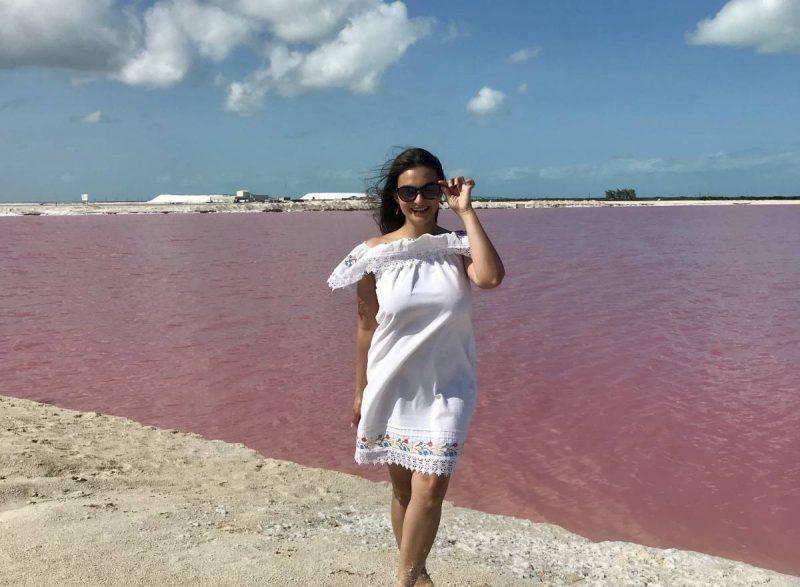 Pink lakes of Las Coloradas